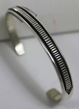 Navajo Indian Bracelet Smaller Sterling Silver Cuff Bruce Morgan