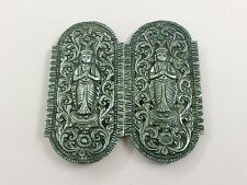 ANTIQUE ANGLO INDIAN BURMESE SILVER BUCKLE 1900