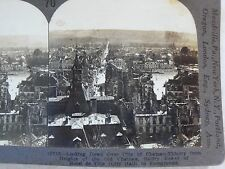 WW1 LOOKING DOWN OVER CITY OF CHATEAU-THIERRY! KEYSTONE STEREOVIEW CARD WWI 70