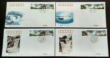 1998-17 China Jingpo Lake 8v Stamps on FDC & B-FDC (4 covers)