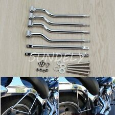 Motorcycle Refit Saddlebag Saddle Bag Support Mounting Bracket Bars For Harley