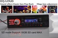 Autoradio Coche In-Dash 12V SD/USB/AUX/FM Estéreo MP3 Reproductor 1 DIN Headunit