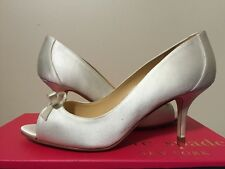 Kate Spade New York Sussana Ivory Satin Women's Dressy Evening Heels Pumps 7 M