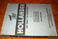 Hollander 16th Parts Interchange Manual 1929-1946 47 48 49 Dodge Ford Chevy Olds