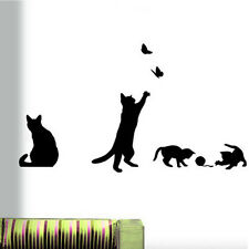 DIY Removable Cats Vinyl Wall Stickers Home Room Mural Decals Decor Kids Art