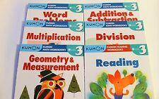 KUMON Workbooks Grade 3 Set: Math + Reading  (6 books) --FREE Expedited Shipping