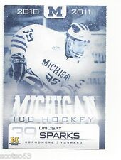 2010-11 Michigan Wolverines Lindsay Sparks (Rapid City Rush)