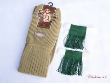 BOY SCOUT MEN COMMANDER EXPLORER KNEE SOCK GARTERS & GREEN TASSEL 1 PAIR VINTAGE