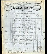 """TOULOUSE (31) DOREUR / DORURE & LAQUE sur BOIS """"J. MENJOLLE"""" en 1883"""