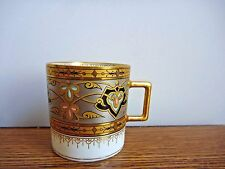 J.P. L. LIMOGES Coffee Cup Gold Demitasse Artist Signed RARE!