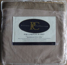 Private Collection - Queen/King Australian Lamb's wool Coffee Blanket - New