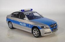 **RARITÄT: 2005 BMW 3er 330i E90 POLIZEI SILBER OVP 1:43**