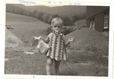 Old Antique Vintage Photograph Little Girl Wearing Adorable Dress With Binky