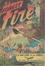 FOREST FIRE RARE 1st SMOKEY THE BEAR 1950 PROMOTIONAL GIVEAWAY PROMO COMIC F/F-