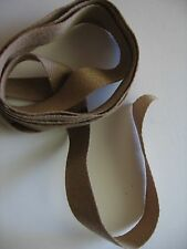"""Hand dyed cotton/polyester twill tape, 9/16"""", 3 yards,  SHADES OF TAUPE color"""