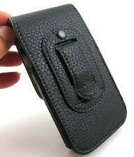 Black Leather Belt Clip Holster Pouch Carrying Case for Apple iPhone 5G 5C 5S SE