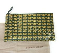 New Authentic BOTTEGA VENETA Leather Clutch Pouch Bag w/Butterfly, 302292 3062