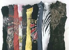 Affliction True Religion Lot of 10 Juniors Graphic Tee Shirts Small S BF12369