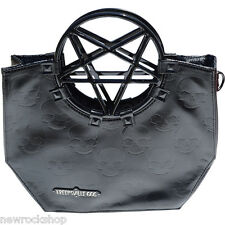 New KREEPSVILLE 666 Pentagram Handle Purse Bag Black