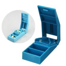Pill Cutter Divide Splitter Compartment Divider Tablet Storage Box Case Holder
