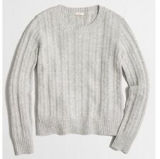 New With Tag J Crew Cable Sweater. Light Gray Color. XL Size. $78 Retail