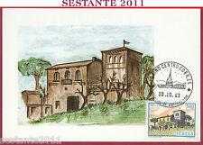 ITALIA MAXIMUM MAXI CARD ROMA 477 VILLA RICCIA CB 1983 ANNULLO TORINO C275