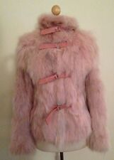 NEW THES & THES by THES TZIVELI GENUINE FOX FUR COAT JACKET $1795 PINK AUTHENTIC
