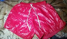 Shiny Nylon Wetlook Glossy Plastic Look Paper Thin Slippery  Shorts Size XL
