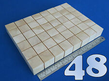 "LOT x 48 CUBES 1.6""/ 40 mm WOODEN BLOCKS BUNDLE SET PINE WOOD NATURAL ECO BRICKS"