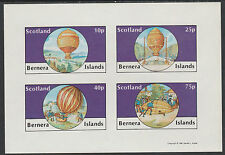 GB Locals - Bernera 2826 - AVIATION - BALLOONS imperf sheetlet unmounted mint