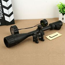 Red Green Mil-dot 6-24x50 Illuminated Optics Sight Scope for 20mm Rail Mount Gun
