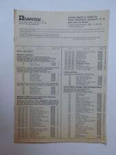RIVAROSSI treno trenino vecchio listino prezzi 1983
