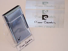Pierre Cardin Paris Silver Chrome Angled Soft Flame Pipe Lighter Luxury Boxed