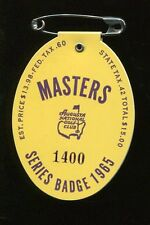 1965 MASTERS SERIES BADGE #1400 Golf Tournament Ticket JACK NICKLAUS