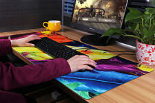 "Colorful Large Gaming Mouse Pad 35.1x15.7"" Computer PC Office Keyboard Anti-Slip"