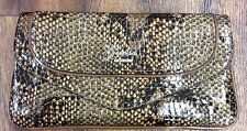 Preloved - Guess Brown Coloured Faux Snakeskin Clutch Bag