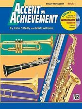 Accent on Achievement  -  Mallet Percussion Book 1 (Book & CD)   NEW ! ! !
