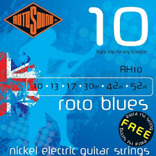Rotosound RH10 Roto Blues Elec Guitar strings 10-52w light top hvy bottom gauge