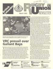 BRITISH COLUMBIA RUGBY UNION 1993 CANADA NEWSLETTER VANCOUVER ENGLAND DUNBAR CUP