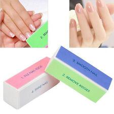 Nail Art USEFUL Manicure 4 Way Shiner Buffer Buffing Block Sanding File