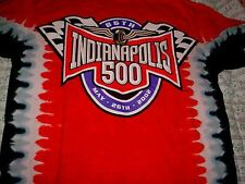 2002-86th Indianapolis 500 Car Racing Races Race Tye Tie Dye Red Shirt-L