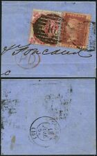 GB QV 1864 SMALL LETTERS 3d SG77 + PENNY RED on PIECE LONDON TWIN 46 CANCEL