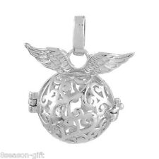 1PC Hollow Box Wing Pendant Bola Angel Cage Sound Bell Beads DIY