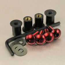 SCREEN BOLT KIT HONDA XL600V TRANSALP '94-'99 4 BOLT RED ALUMINIUM