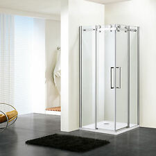 Shower Enclosure Room Frameless Tempered Glass Corner Sliding Doors Bathroom