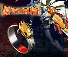 Digimon Adventure 15th Anniversary WarGreymon Omegamon Ring 925 Silver Adjustabl
