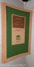 SAGGI DI LETTERATURA ITALIANA Raffaello Ramat ODCU 1954 Scuola Critica Letterari