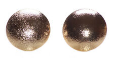 Vintage Glamour Inspired -shiny round Golden Circle/ Metal Stud Earrings(Ns19)