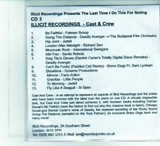 (DU553) The Last Time I Do This For Nothing- Cast & Crew - DJ CD