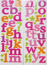 LETTERS punctuation wall stickers 62 decals Alphabet ABC room decor nursery teen